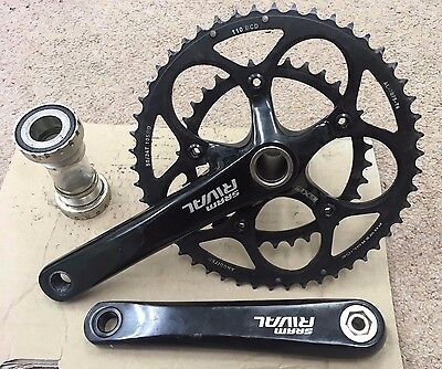 SRAM Rival GXP 50/34 Compact Chainset 175mm + Bottom Bracket, 110 BCD