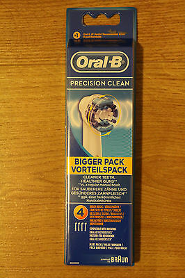 Oral-B Precision Clean Replacement  4x Brush Heads 100% GENUINE