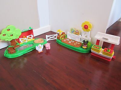 Fisher Price Little People Farm Pond and Pig Pen and Garden Stand