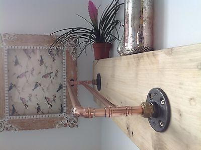 Copper Pipe Double Towel Rail  Industrial/Modern/Vintage