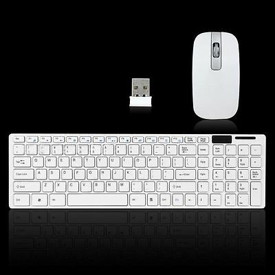 New 2.4GHz Slim Cordless Wireless Keyboard and mouse for PC Computer Laptop UK