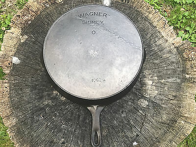 Wagner Sidney # 12 Arc Logo Cast Iron Skillet With Heat Ring
