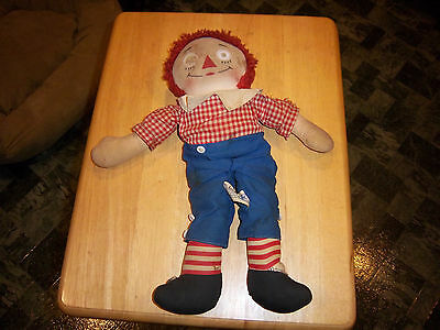 Antique Raggedy Andy Doll With Music Box    Knickerbocker