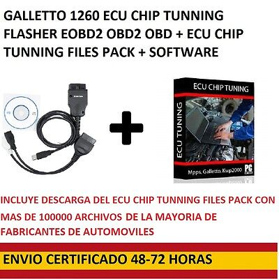 ECU CHIP TUNNING GALLETTO Flasher  1260 EOBD 2 OBDII OBD +software+tunning files
