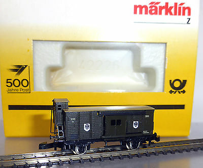 Marklin Z 8654 miniclub; Royal Prussian Post car, ERA I, new/boxed /D811