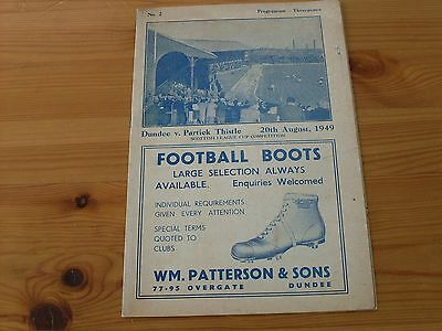 Dundee v Partick Thistle SLC programme dated 20-8-1949   (019)