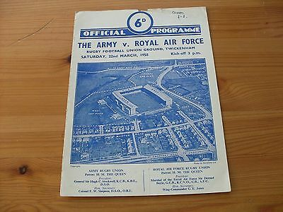 The Army v RAF programme dated 22-3-1958   (029)