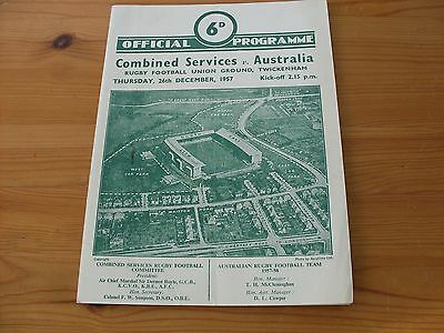 Combined Services v Australia programme dated 26-12-1957   (008)