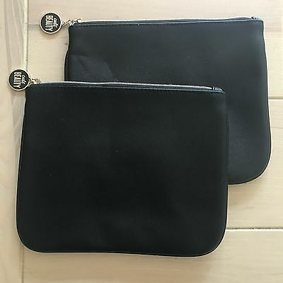 CULT BEAUTY X 2 Purses/Clutch/Pouch. Black with Pale Gold Zip & Cult Beauty Pull
