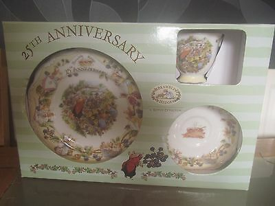 ROYAL DOULTON *VERY RARE* BRAMBLY HEDGE LORD WOODMOUSE 25th ANNIVERSARY TRIO SET