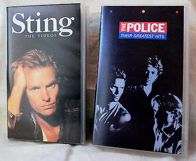 VIDEO STING & THE POLICE Originali - 2 VHS