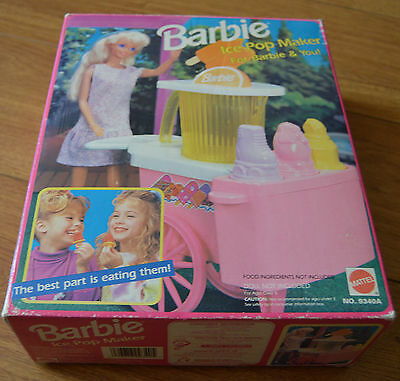 Girls Boxed Barbie Ice Pop Maker For Barbie And You Mattel 1992