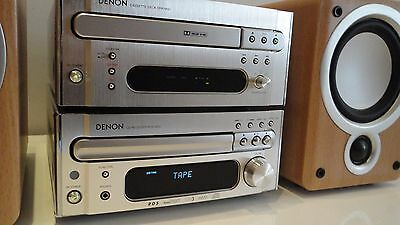 Denon D-M33 HiFi Component System Amp CD Tuner Tape+ Free Speakers