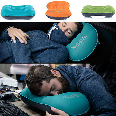 Ultralight Portable Air Inflatable Pillow Outdoor CampingTravel Soft Pillow ZZ