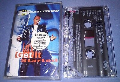 MC HAMMER LET'S GET IT STARTED cassette tape album T4043