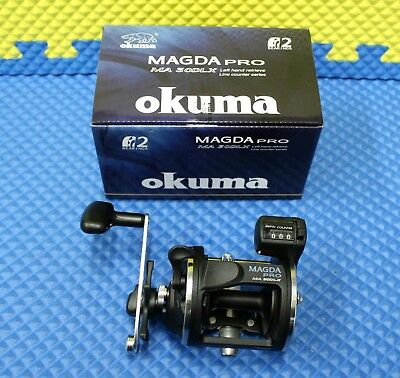 Okuma Magda Pro MA 30DLX Left Hand Trolling Reel with Line Counter