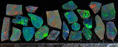 81.55 Carats Of Solid Gem Quality Lightning Ridge Rubbed Opal Parcel
