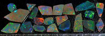 67.20 Carats Of Solid Gem Quality Lightning Ridge Rubbed Opal Parcel