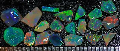 59.85 Carats Of Solid Gem Quality Lightning Ridge Rubbed Opal Parcel