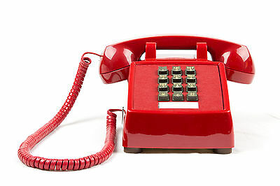 Meticulously Refurbished Vintage Touch Tone Telephone - ITT/CORTELCO - Red