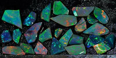 65.15 Carats Of Solid Gem Quality Lightning Ridge Rubbed Opal Parcel