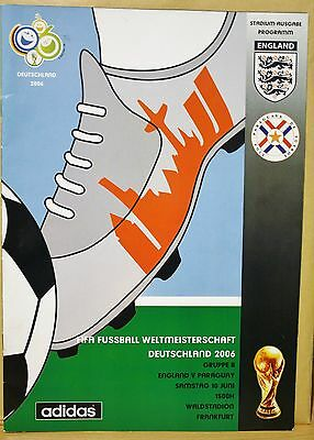 WORLD CUP 2006 PROGRAMME ENGLAND v PARAGUAY (REDUCED TO SELL)