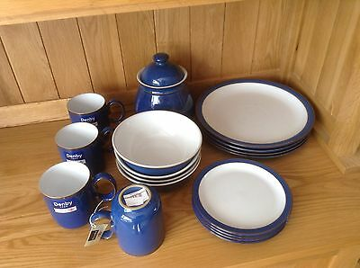 Denby Imperial Blue Dinner Set