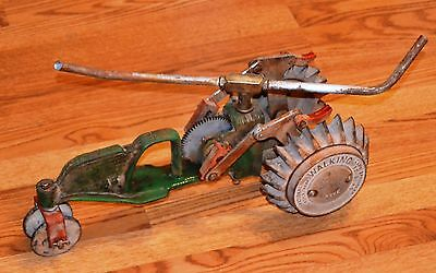 RARE Vintage 1930's National Walking Tractor Lawn Sprinkler Cast Iron B3