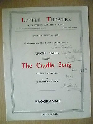 1926 Little Theatre- George Wansbrough in THE CRADLE SONG by G Martinez Sierra
