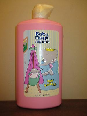 Vintage Baby Magic Original Baby Lotion by MENNEN 32 oz pump BABAR