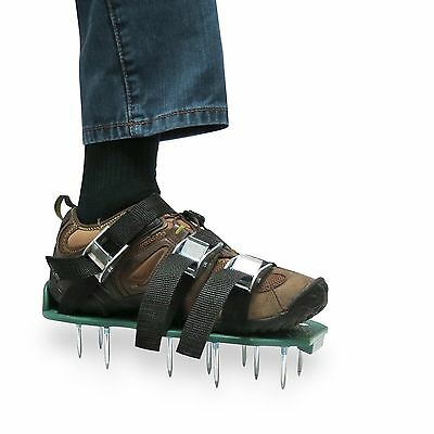 Lawn Aerator Shoes Heavy Duty Spiked Sandals Metal Buckles