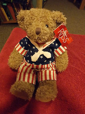 Russ Berrie George Washington Celebrate America Teddy Bear Soft Stuffed  Toy