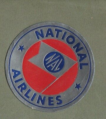 Airline luggage label Baggage Label National Airlines  #562