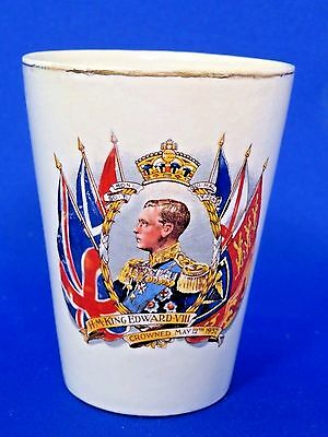 King Edward VIII Coronation That Did Not Happen Tumbler May 1937 England Antique