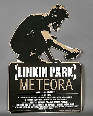 LINKIN PARK METEORA PROMO ONLY CARDBOARD STAND UP FLOOR DISPLAY large 24x36