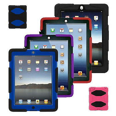 Tough Military Heavy Duty Shockproof Builder Case Cover For All APPLE IPAD MODEL