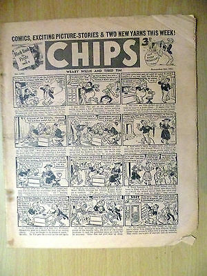 1952 Vintage Comic CHIPS- Comic,Exciting Picture Stories & 2 New Yarns.  (RARE)
