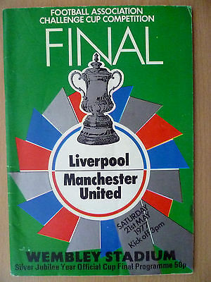 1977 FA CUP Final Programme  Liverpool v Manchester United