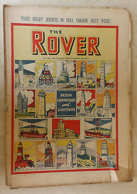 Comic-THE ROVER, No.1283, 28th January 1950 FOOTBALL CLUB BADGES