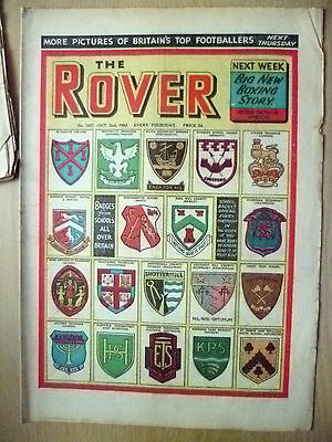 Comic- THE ROVER, No.1527, 2 Oct 1954;GREAT NEWS of AN EXCITING NEW BOXING STORY