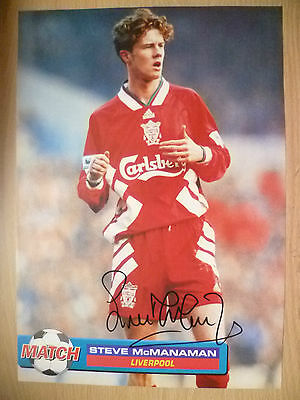100% Genuine Hand Signed Press Cutting of Liverpool FC Player - STEVE McMANAMAN