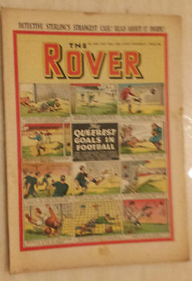 Comic- THE ROVER, No.1430, 22nd Nov. 1952 - THE QUEEREST GOALS IN FOOTBALL