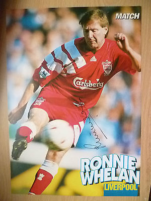 100% Genuine Hand Signed Press Cutting of Liverpool FC Player - RONNIE WHELAN