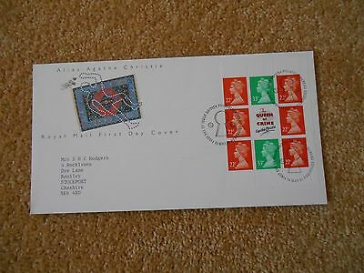 British Stamps FDC 1991 Agatha Christie Stamp Book