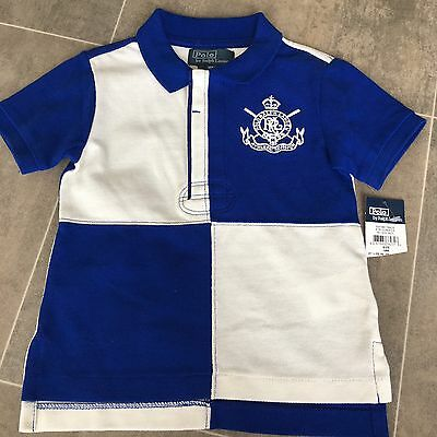 Polo Ralph Lauren Baby Boy's Polo Shirt Blue White Size 18M