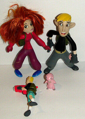 """Disney Equity Marketing 7"""" Action Figures KIM POSSIBLE Talking & RON STOPPABLE"""