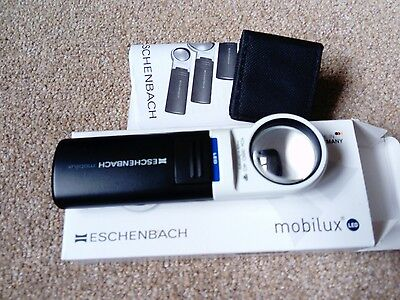 Eschenbach mobilux LED 38D 10X35mm 151110 magnifier NEW