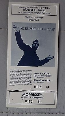 MORRISSEY Hamburg Docks Germany Rare complete Ticket stub 6th May 1991