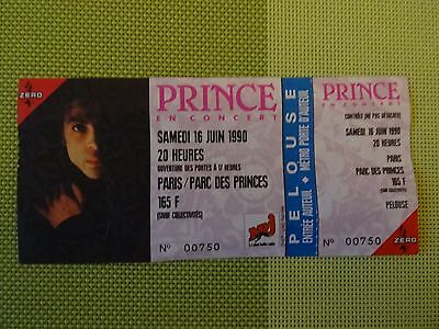 Rare Complete PRINCE Parc des Princes Paris standing ticket stub 16th June 1990