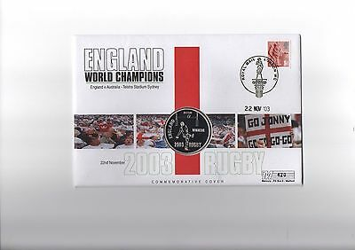 England 2003 Rugby World Cup Victory Silver Commemorative Cover